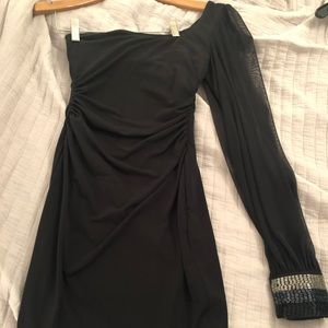 A fun & frisky black homecoming / cocktail dress!